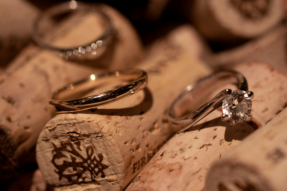 Wedding Rings Picture at Vineyard in Santa Barbara, Ca